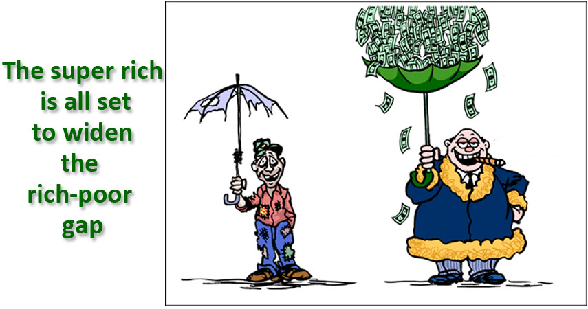 gap between rich and poor in india essay The huge gap between america's rich and superrich exposes a deep  while america's enormous gap between rich and poor and the sorry state of  india in italy it .